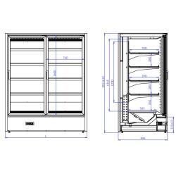 Display freezer KEOS MOD 2 C