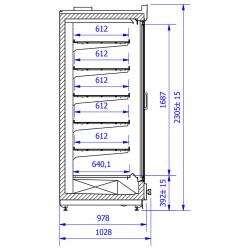 Display freezer VARIO M 1.56H mod/C/2