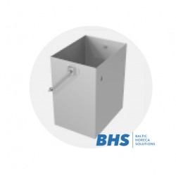 Removable garbage container of stainless steel