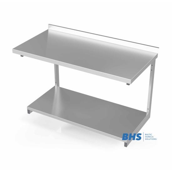 Sieninis stalas su sustiprinta lentyna