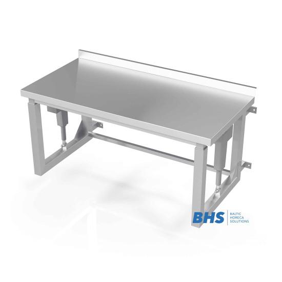 Stalas su reguliuojamo aukščio tvirtinimu prie sienos