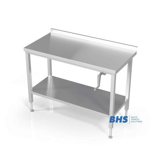 Stalas su reguliuojamu aukščiu su lentyna