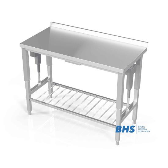 Stalas su reguliuojamu aukščiu ir grotelėmis