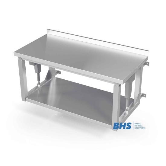 Stalas su reguliuojamu paviršiumi tvirtinamas prie sienos