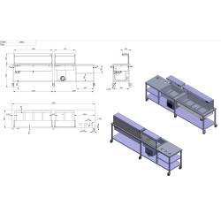 Projektai - stalas su šaltu ir karštu marmitu