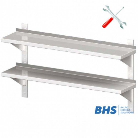 Wall shelf with two shelves 1200