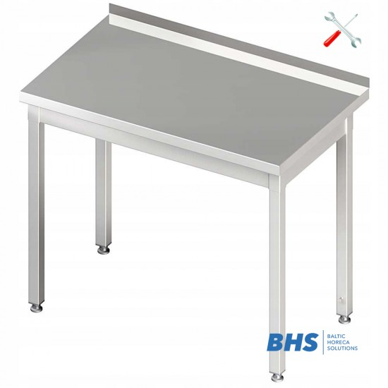 Easy folding table without shelf