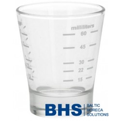 Glass measuring cup 15/60 ml