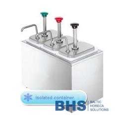 Dispenseri ar izolāciju ar 3 pumpjiem