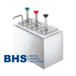 Dispensers ar 3 pumpjiem