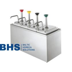 Dispensers ar 4 pumpjiem