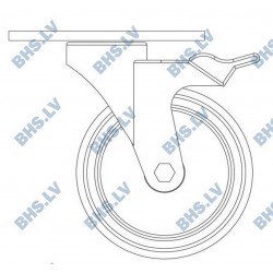 Cinkotu riteņu komplekts RC 125 mm