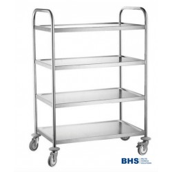 Serving trolley with 4 shelves